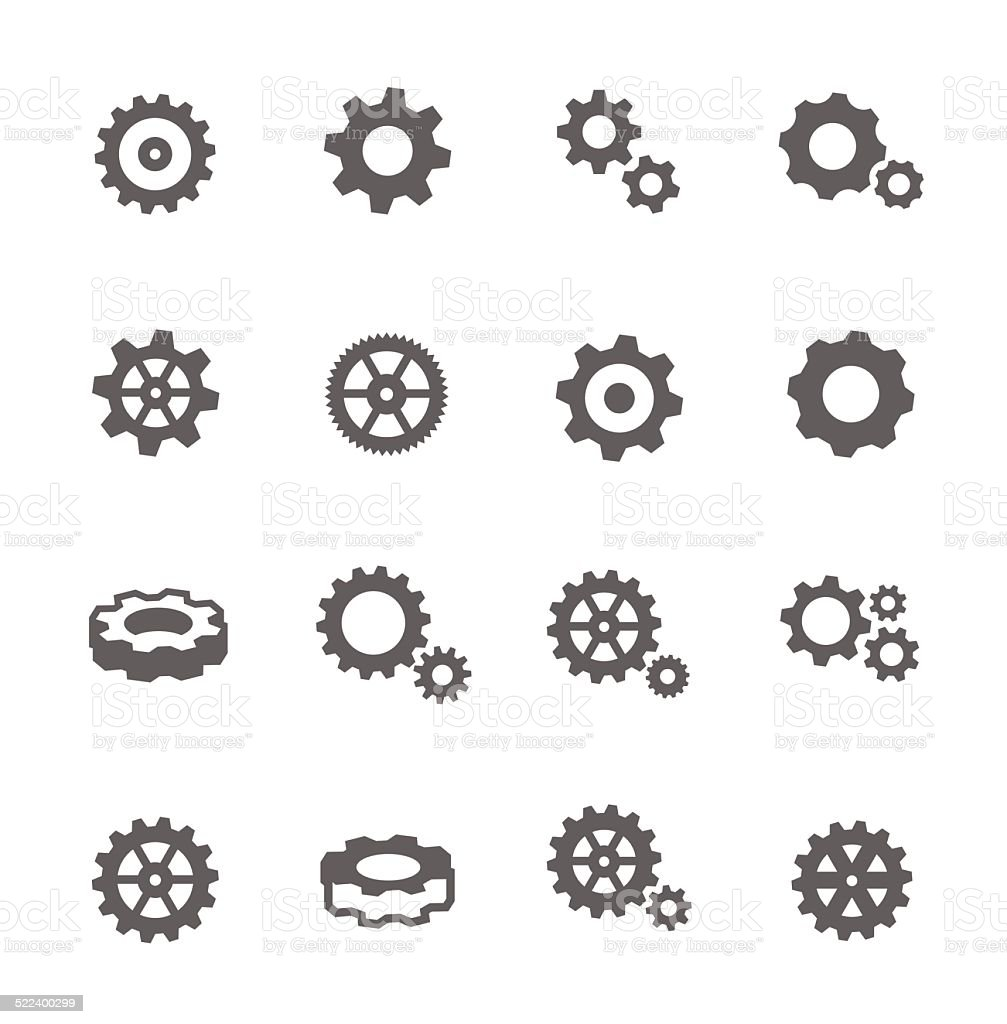 Gear Icons vector art illustration
