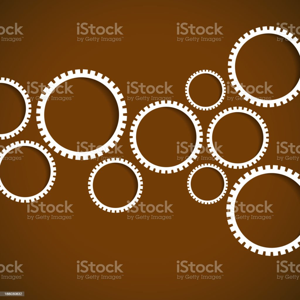 gear pattern with brown background for design royalty-free stock vector art