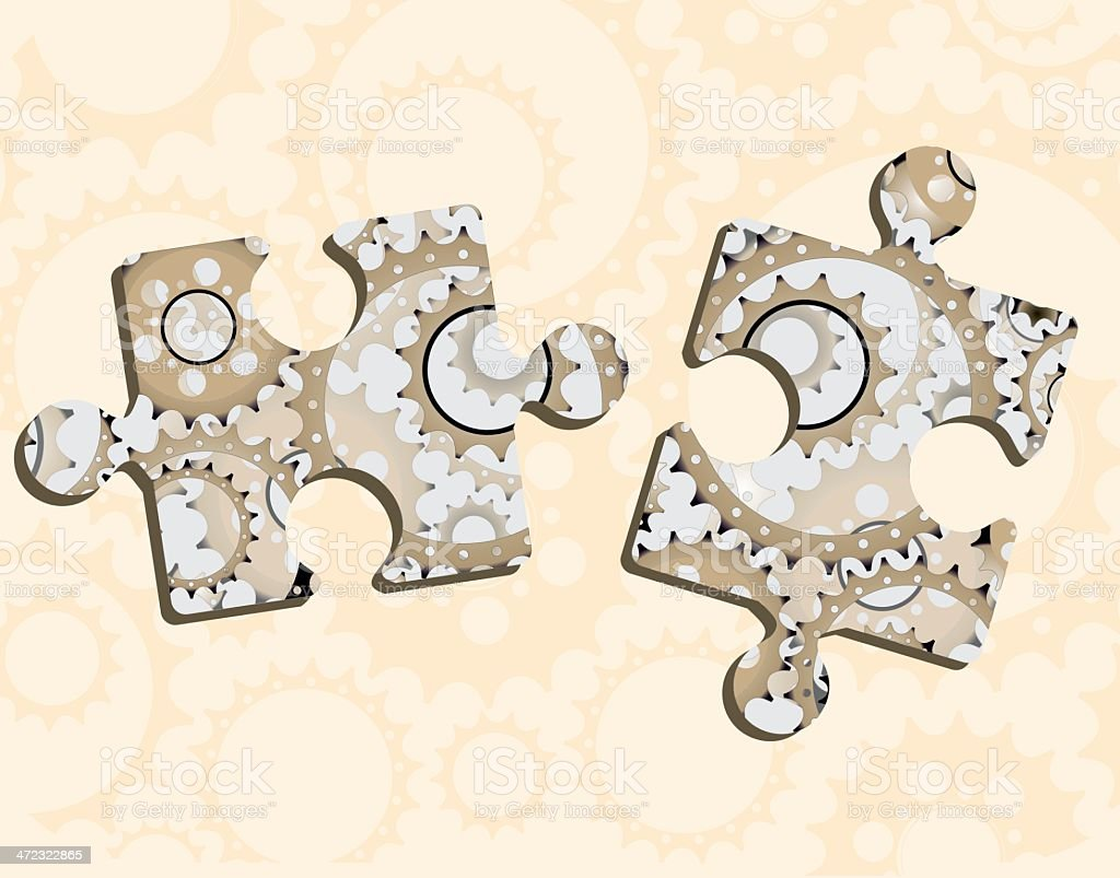 Gear Puzzle royalty-free stock vector art