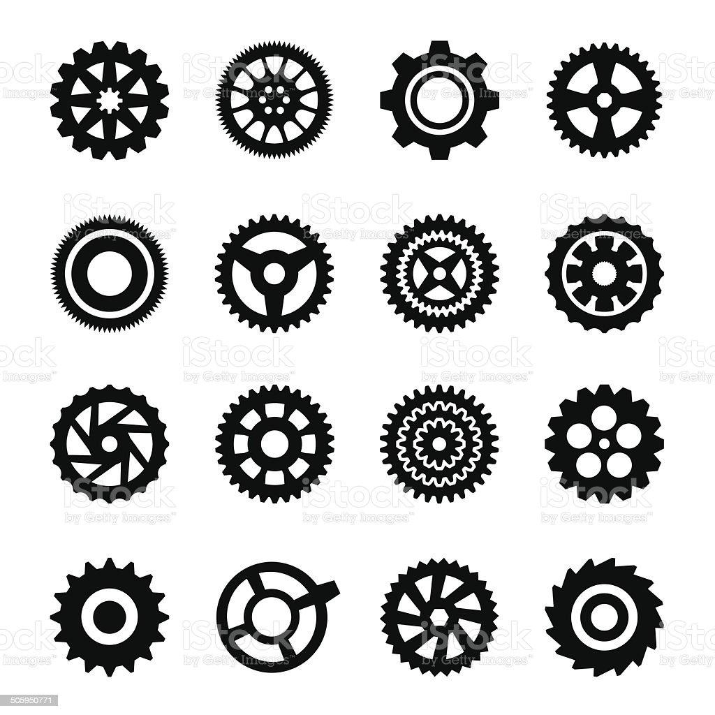 Gear silhouette vector art illustration