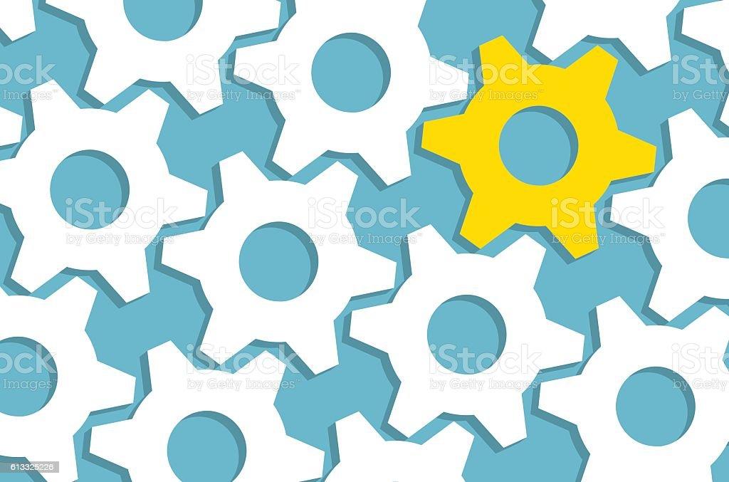 Gear Solution Concept vector art illustration