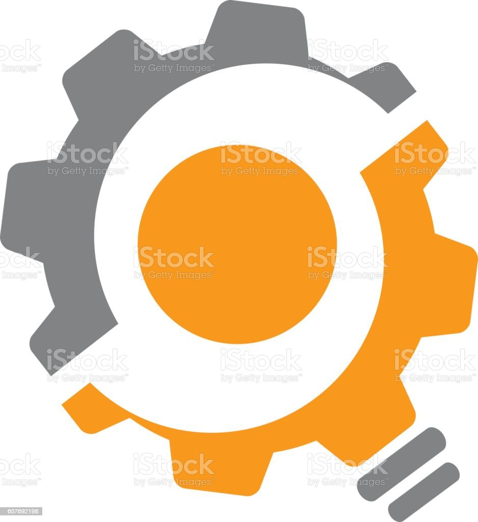 Gear Solution vector art illustration