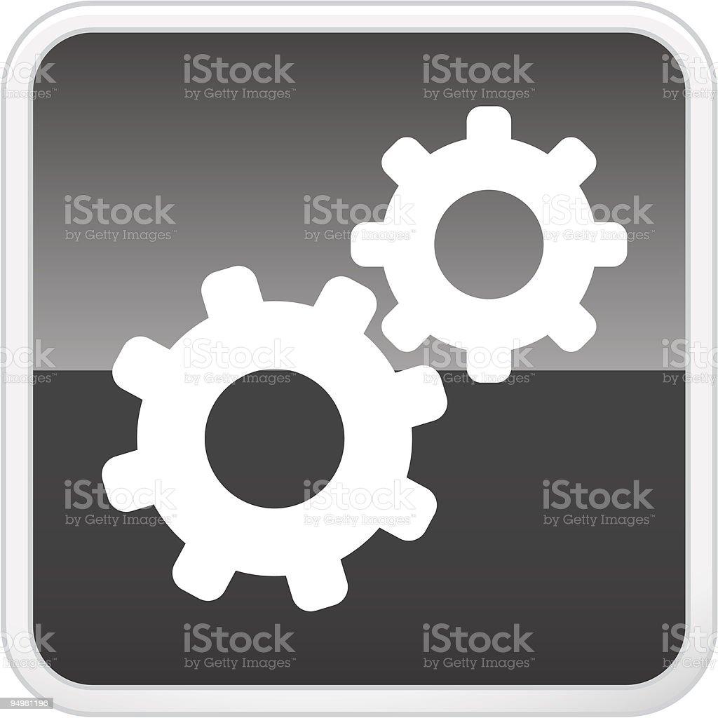 Gear. Vector icon. Button vector art illustration