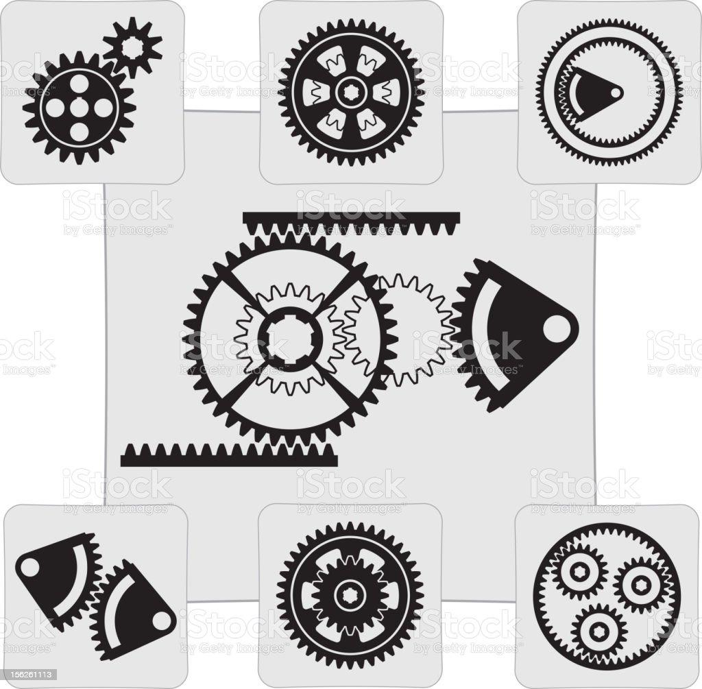 gear vector art illustration