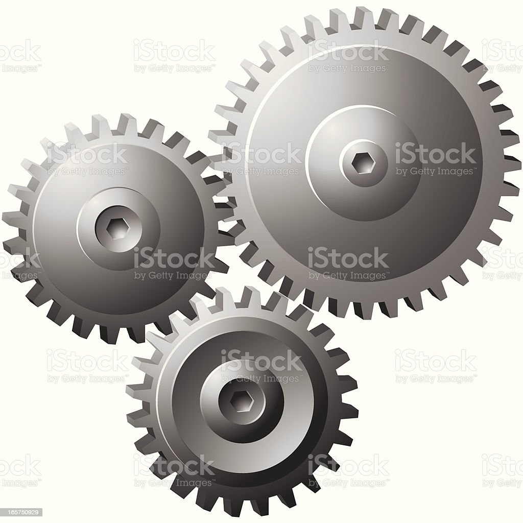 3D Gear royalty-free stock vector art