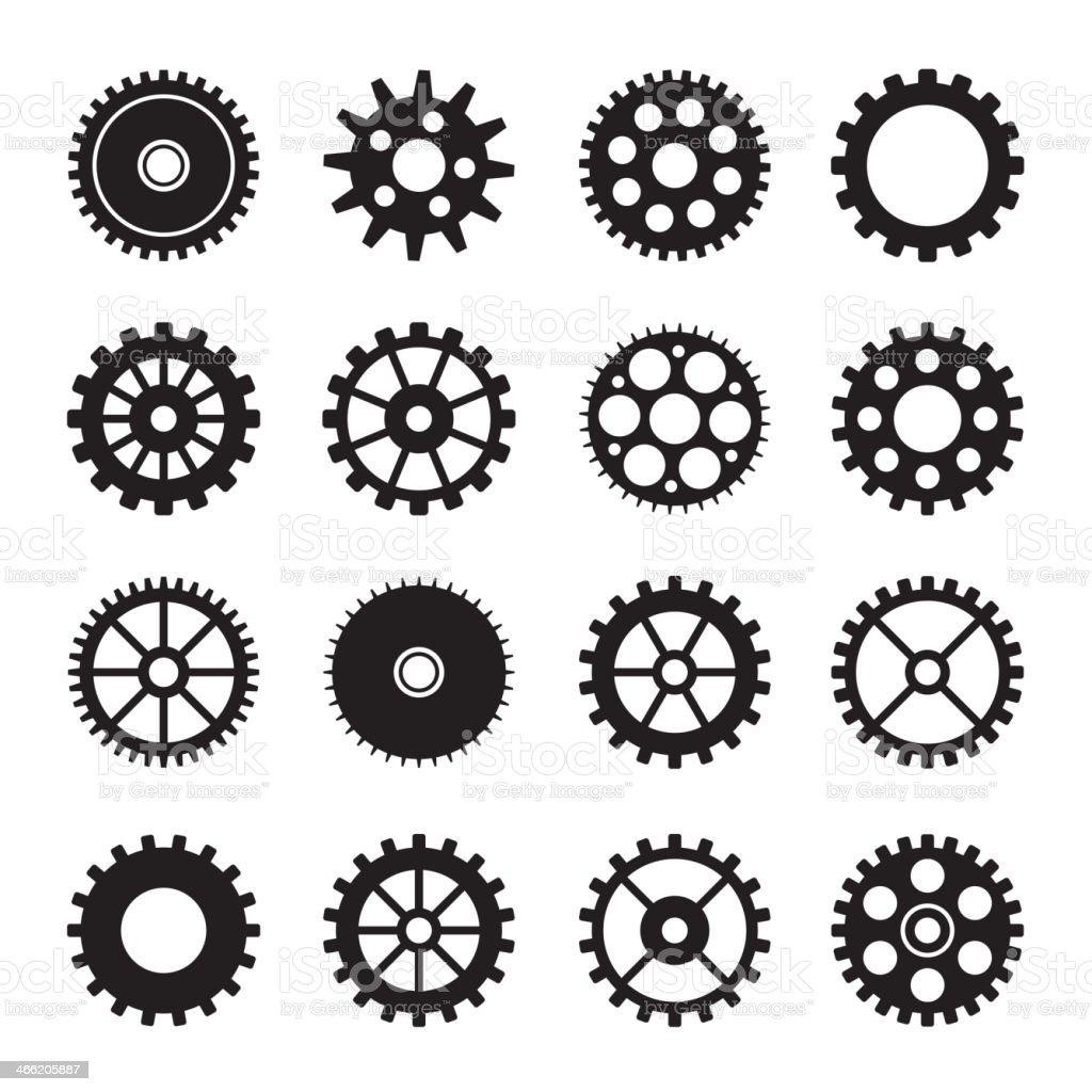 Gear wheel icons set 2 royalty-free stock vector art