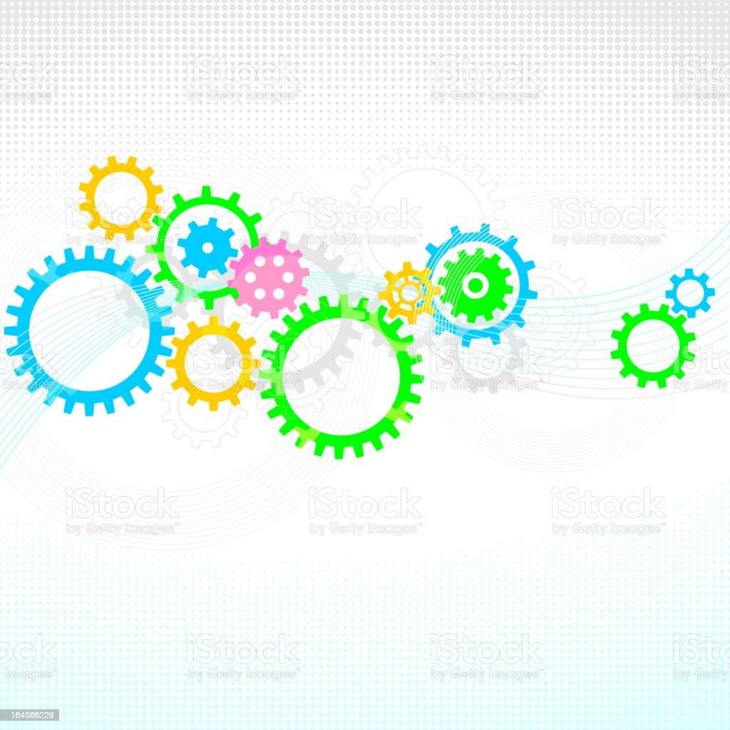 Gear wheels abstract background royalty-free stock vector art
