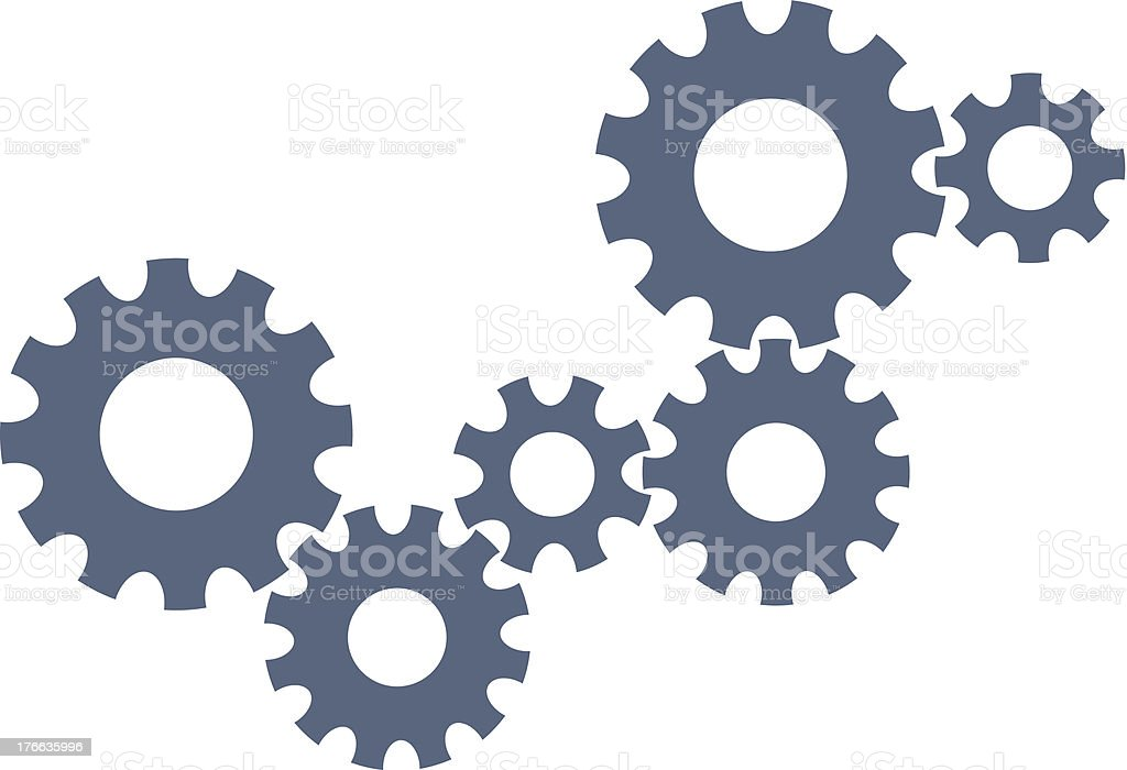 Gears - abstract Web design template royalty-free stock vector art