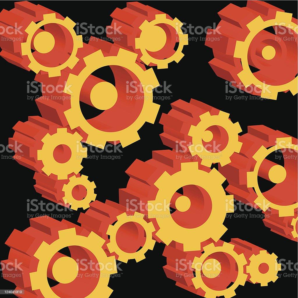 gears and cogwheels royalty-free stock vector art