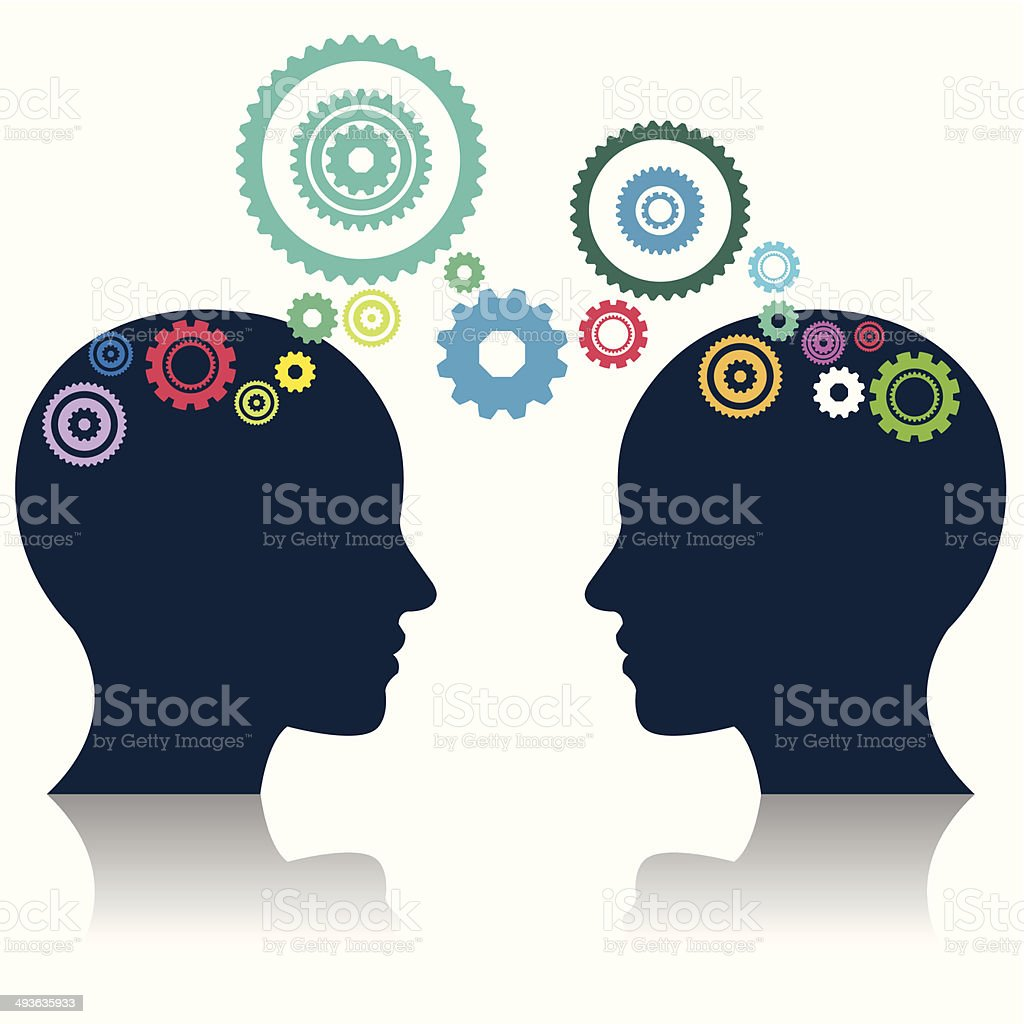 gears and head Illustration royalty-free stock vector art