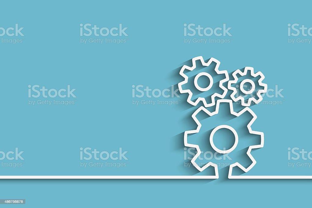 gears back vector art illustration