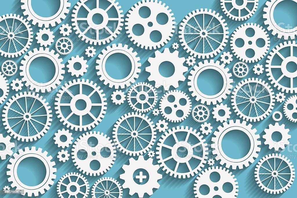 gears background vector art illustration