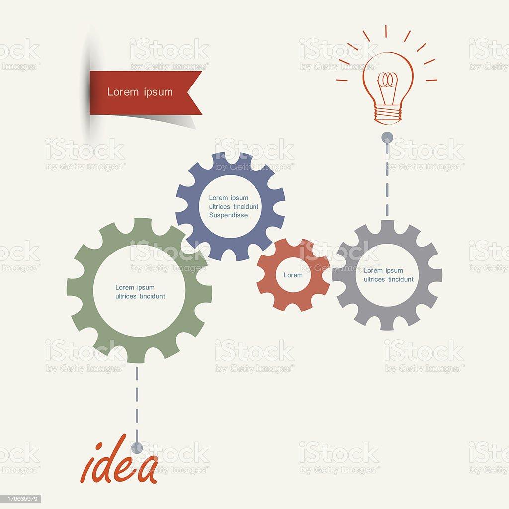 Gears - conceptual idea vector art illustration