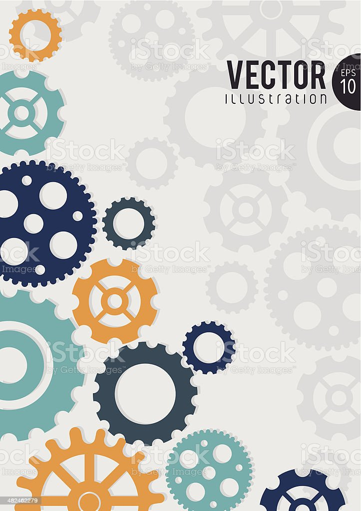 gears design vector art illustration