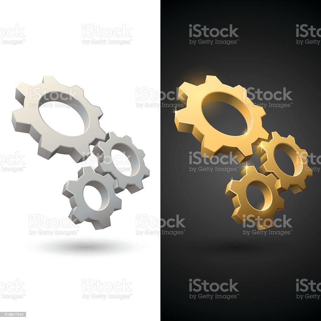 Gears icons vector art illustration