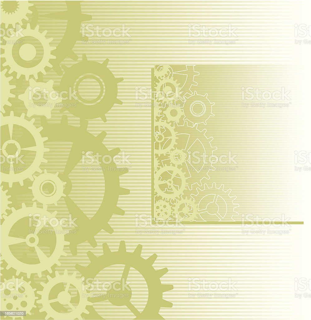 Gears Lateral frame royalty-free stock vector art