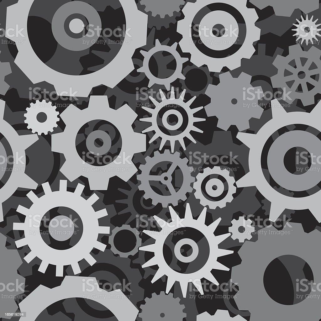 Gears seamless pattern royalty-free stock vector art