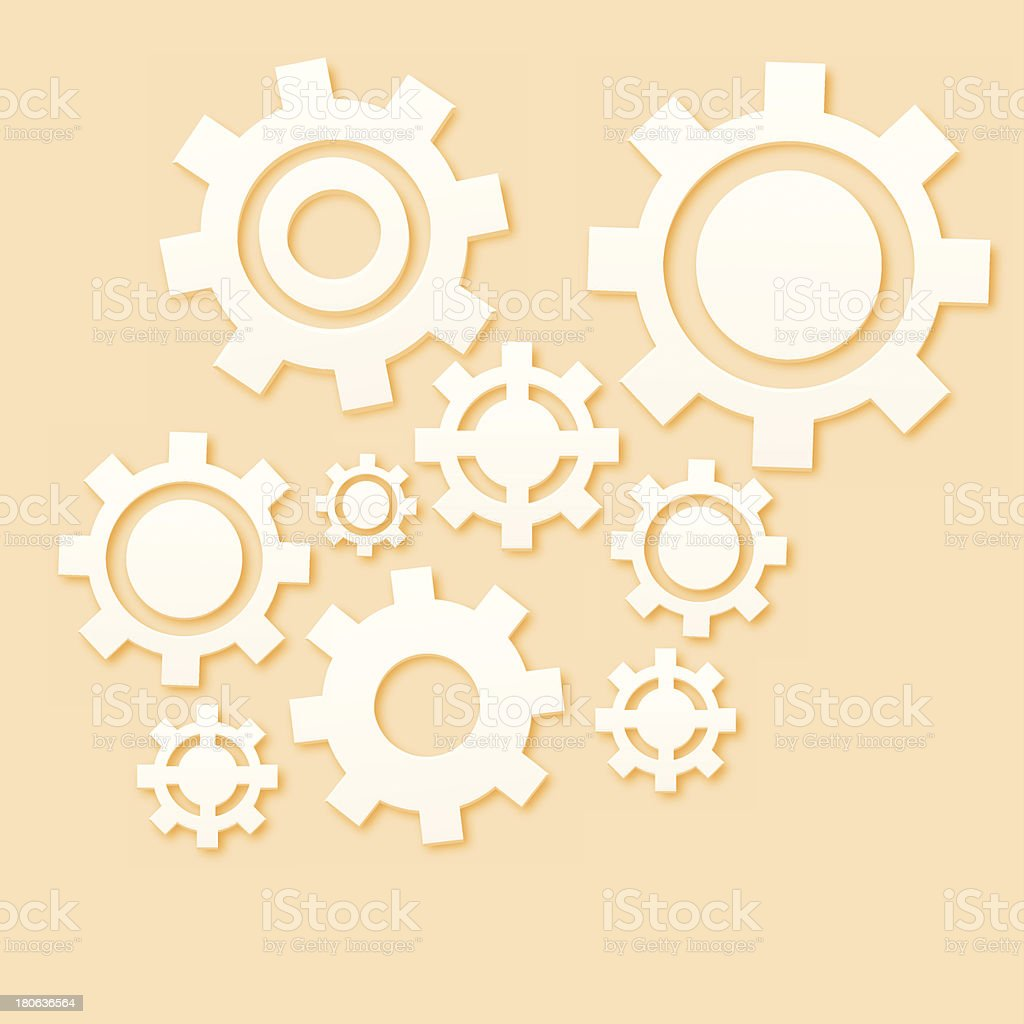 Gears set - VECTOR royalty-free stock vector art