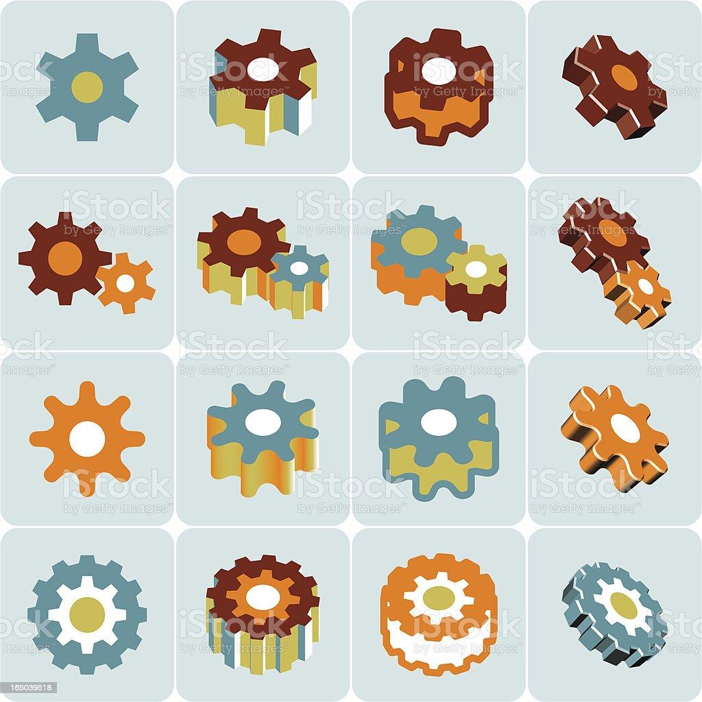 gears symbol royalty-free stock vector art