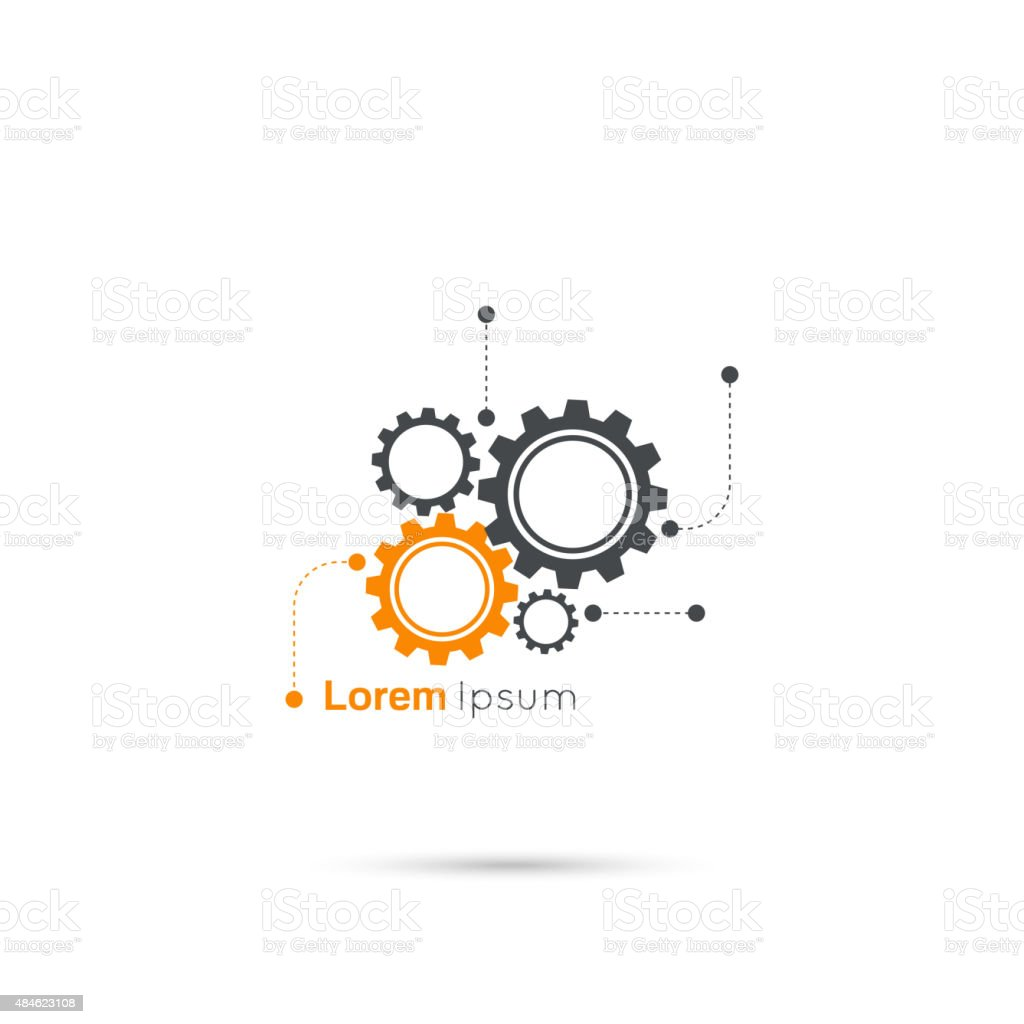 Gears symbol vector art illustration