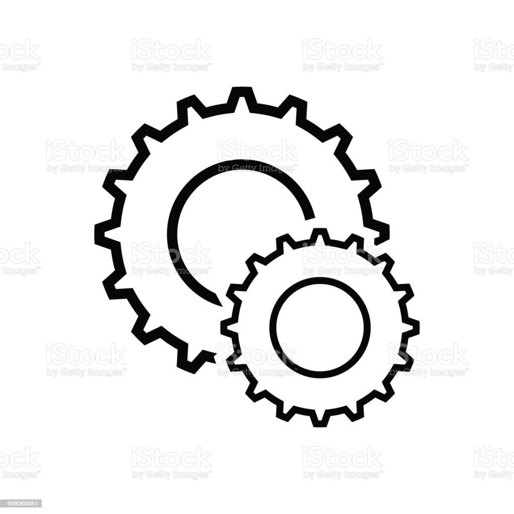 Gears vector icon vector art illustration