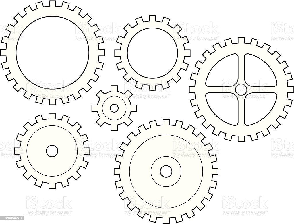Gears royalty-free stock vector art