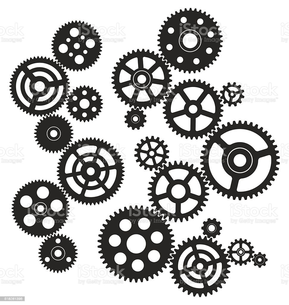 Gears vector art illustration