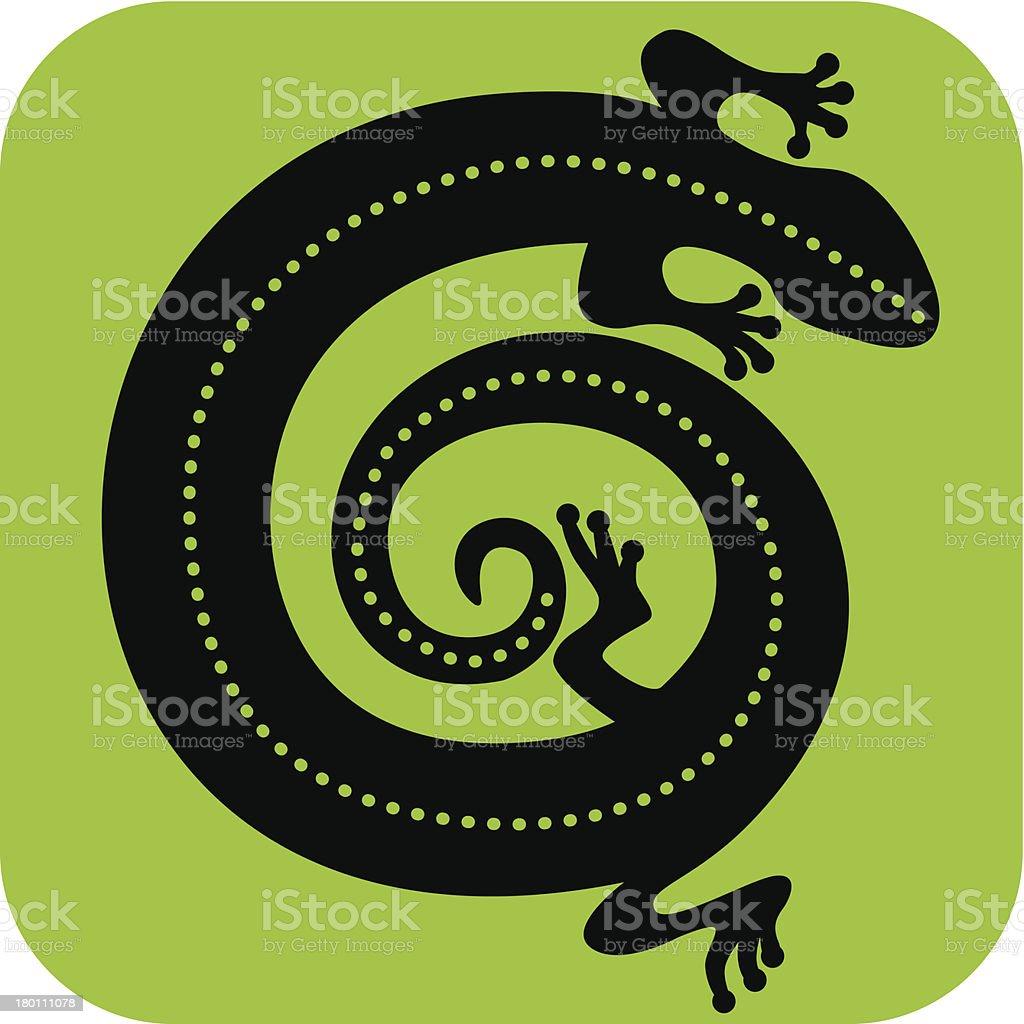 Gecko royalty-free stock vector art
