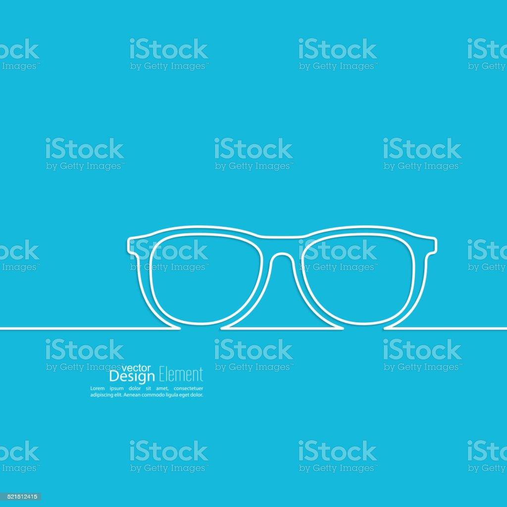 Geek glasses icon vector art illustration