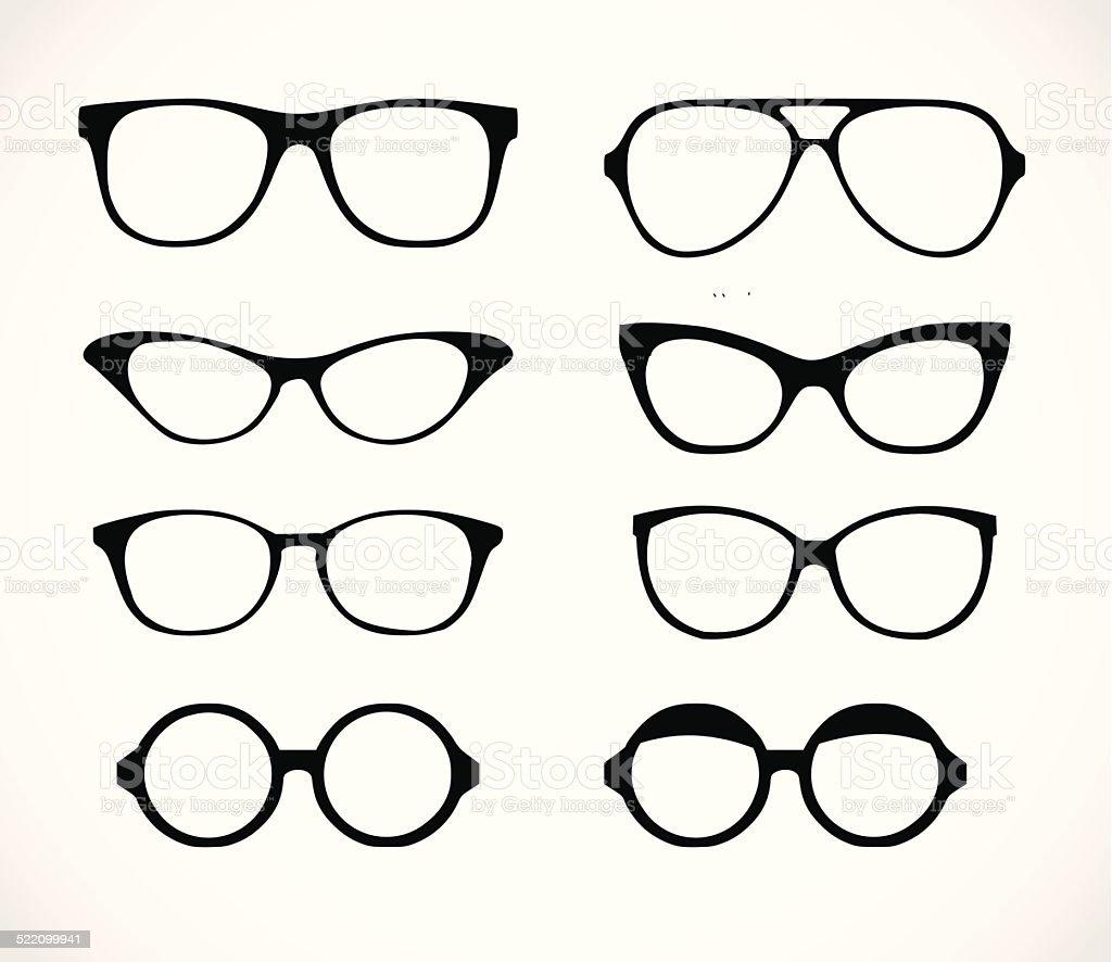 Geek glasses set vector illustration vector art illustration
