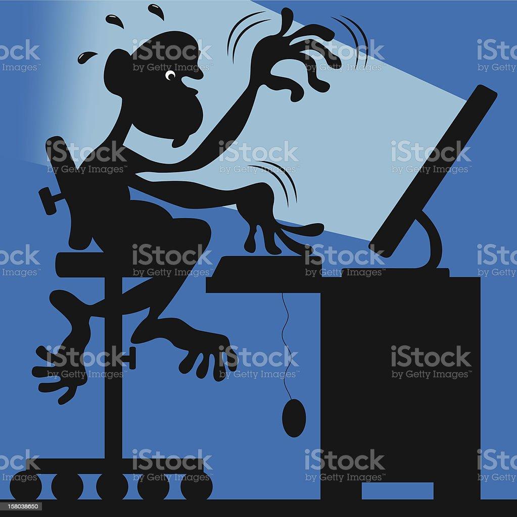 Geek monkey royalty-free stock vector art