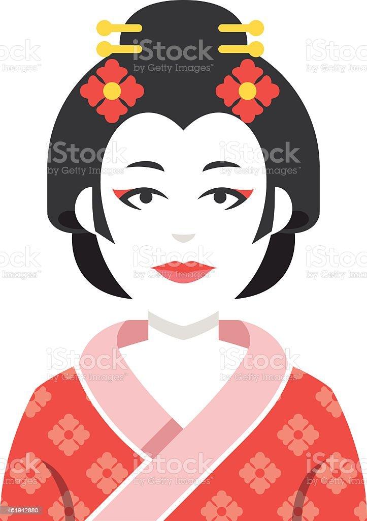 Geisha character vector illustration vector art illustration