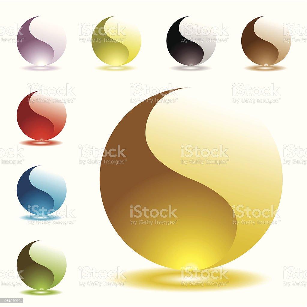 gel round half glow vector art illustration