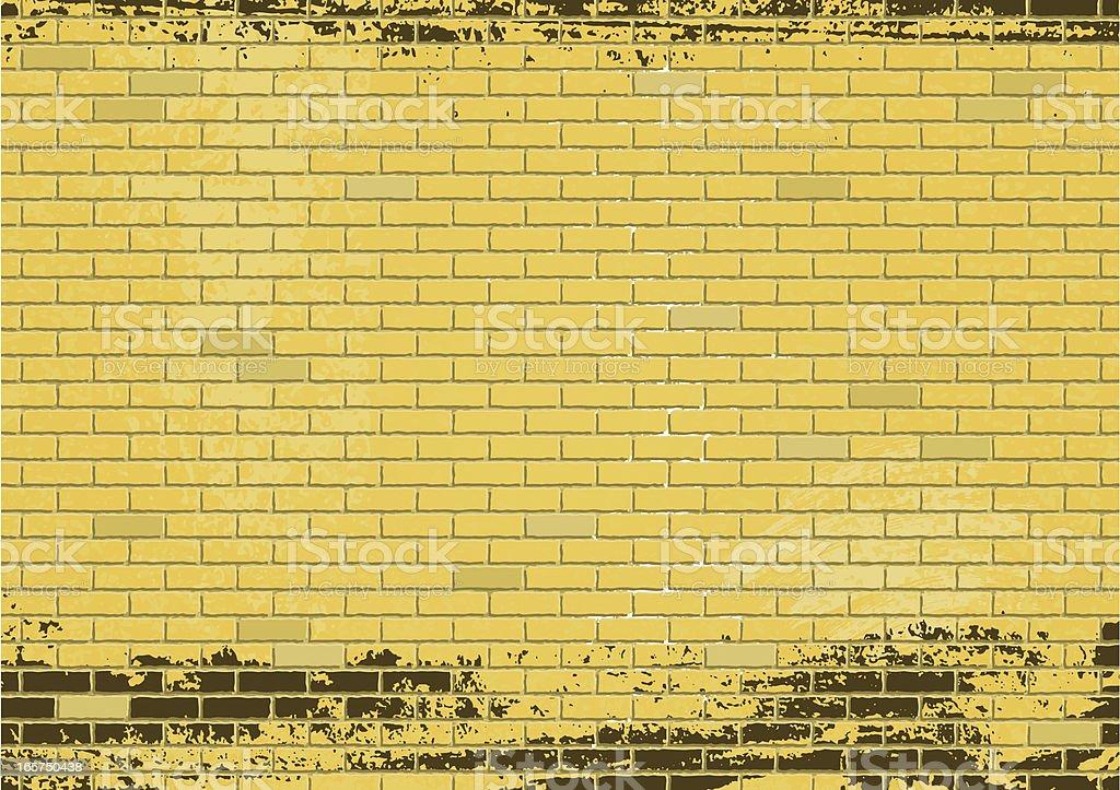 Gelbe Mauer royalty-free stock vector art