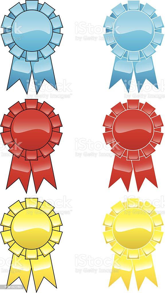 gelled ribbons royalty-free stock vector art