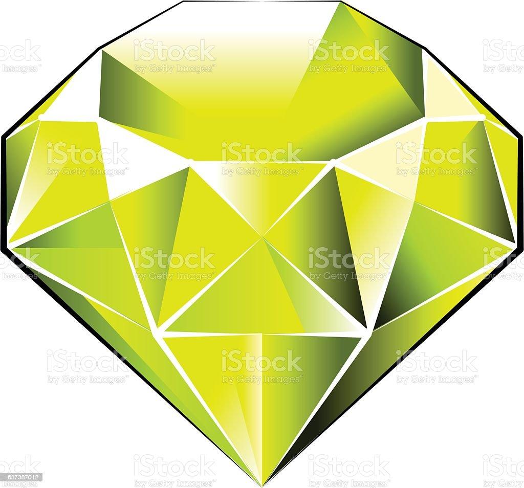 Gem Stone vector art illustration