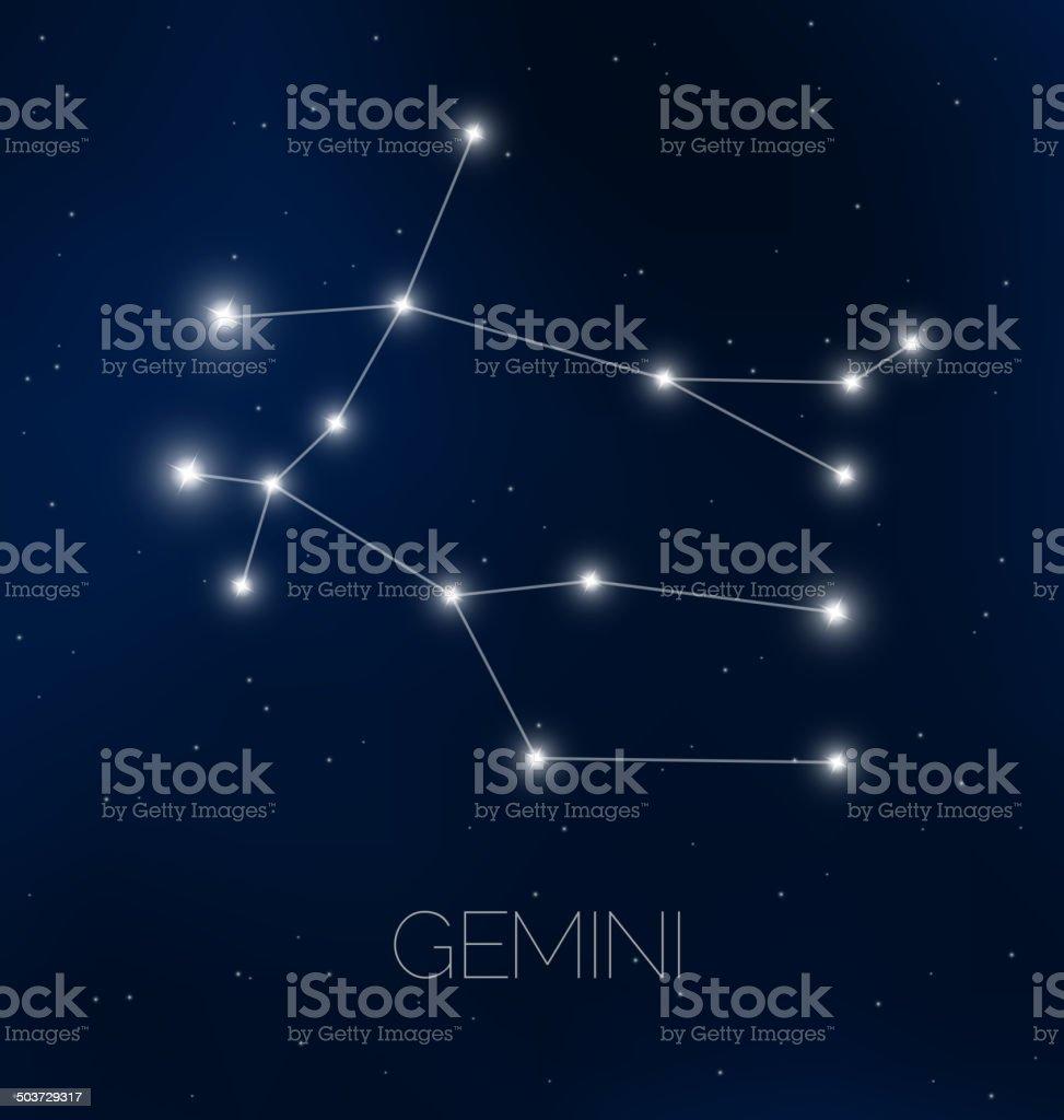 Gemini constellation royalty-free stock vector art