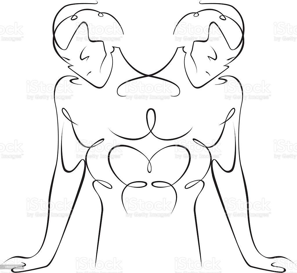Gemini vector art illustration