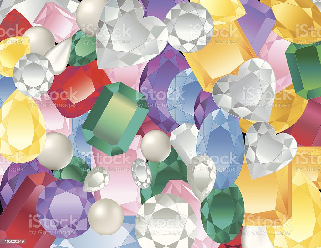 Gemstone Background royalty-free stock vector art