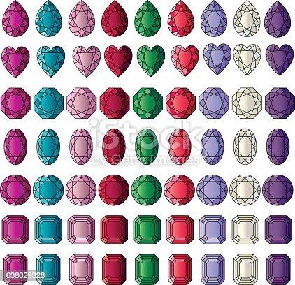 Gemstone Clipart Vektor Illustration 638029328 | iStock | {Französische küche clipart 76}
