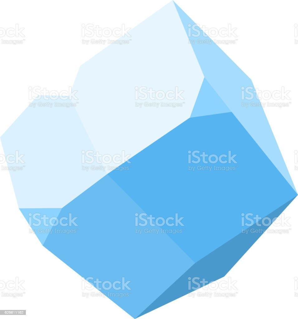 gemstone, diamond colorful stone isolated on white background vector art illustration