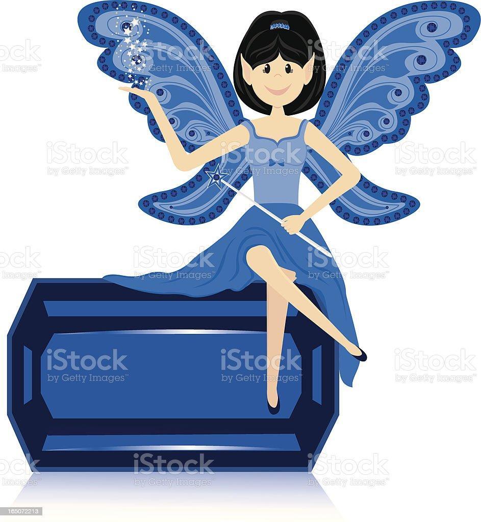 Gemstone Fairy - Sapphire royalty-free stock vector art