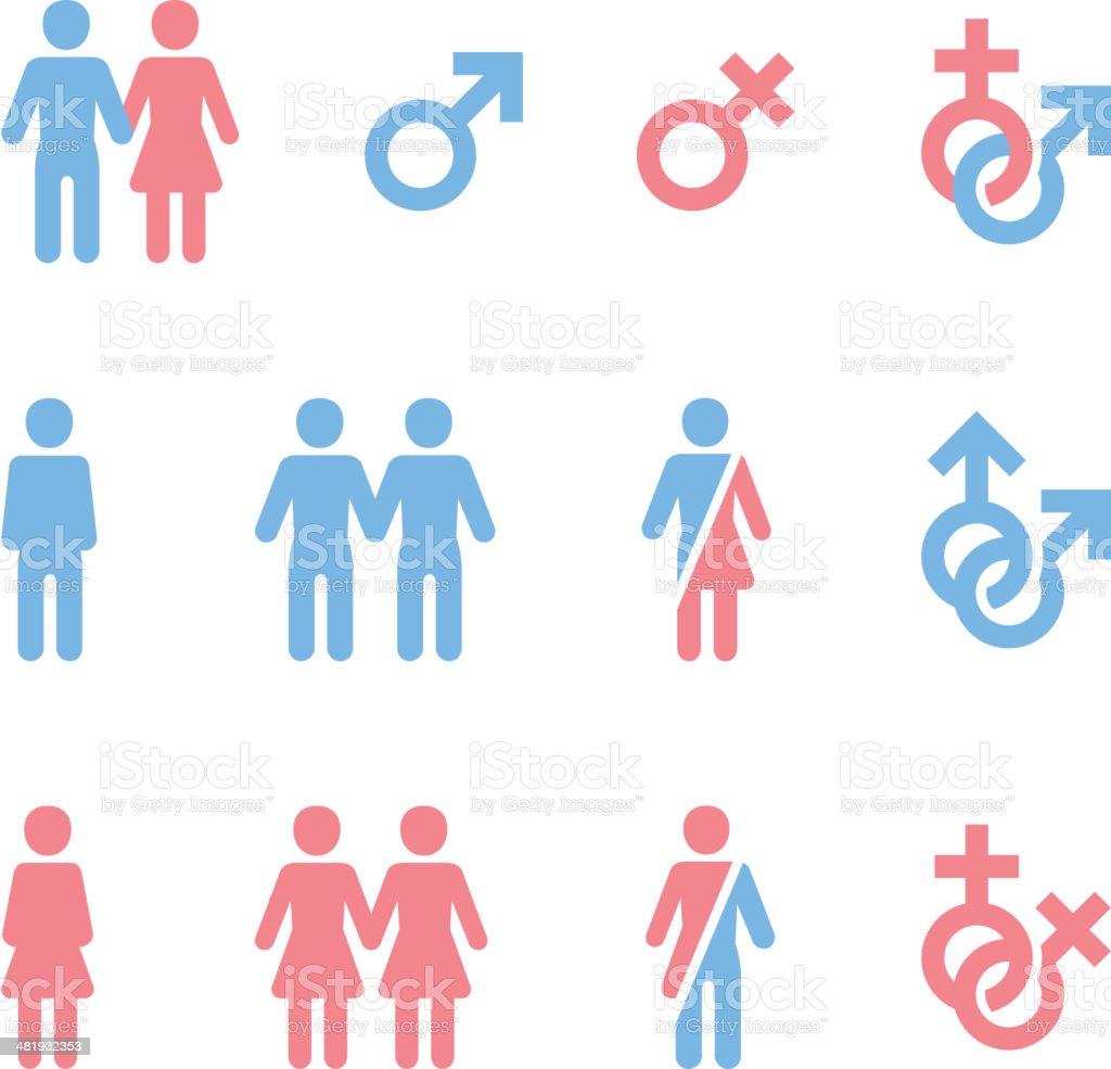 Gender Icons vector art illustration