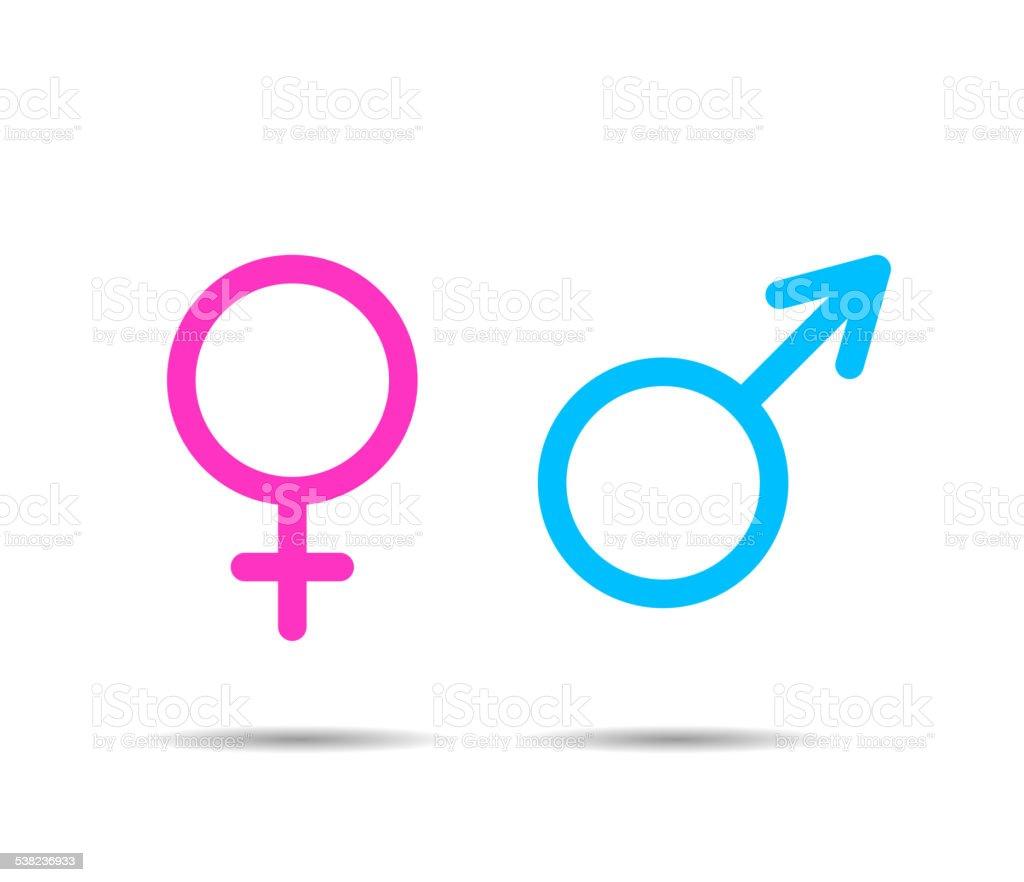 Gender symbol icons vector art illustration