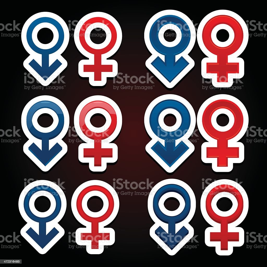 Gender symbols / icons royalty-free stock vector art