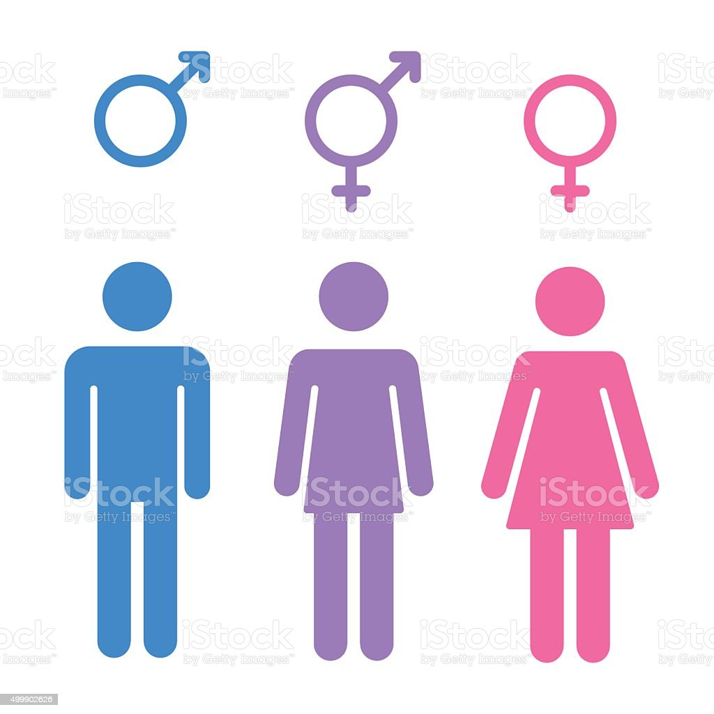 Gender symbols set vector art illustration