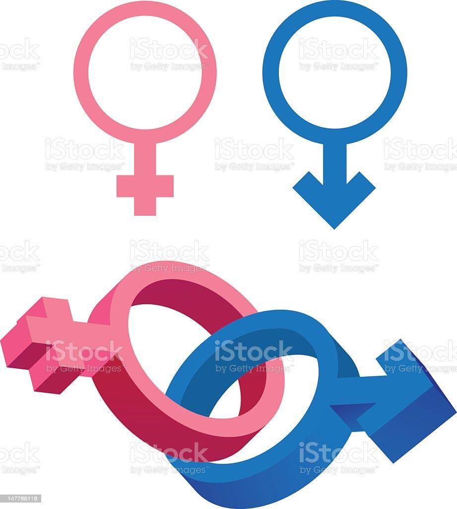 Gender Symbols royalty-free stock vector art
