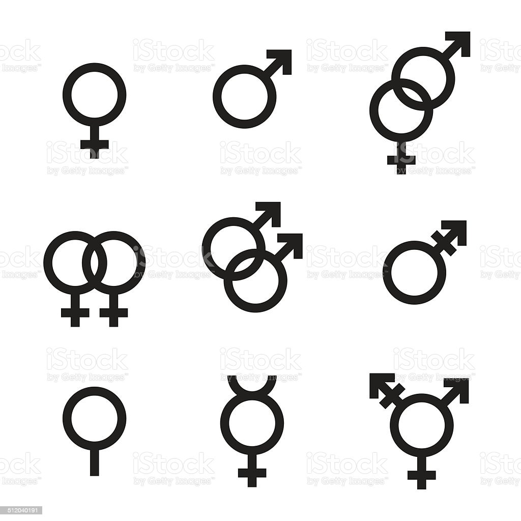 Gender Symbols vector art illustration