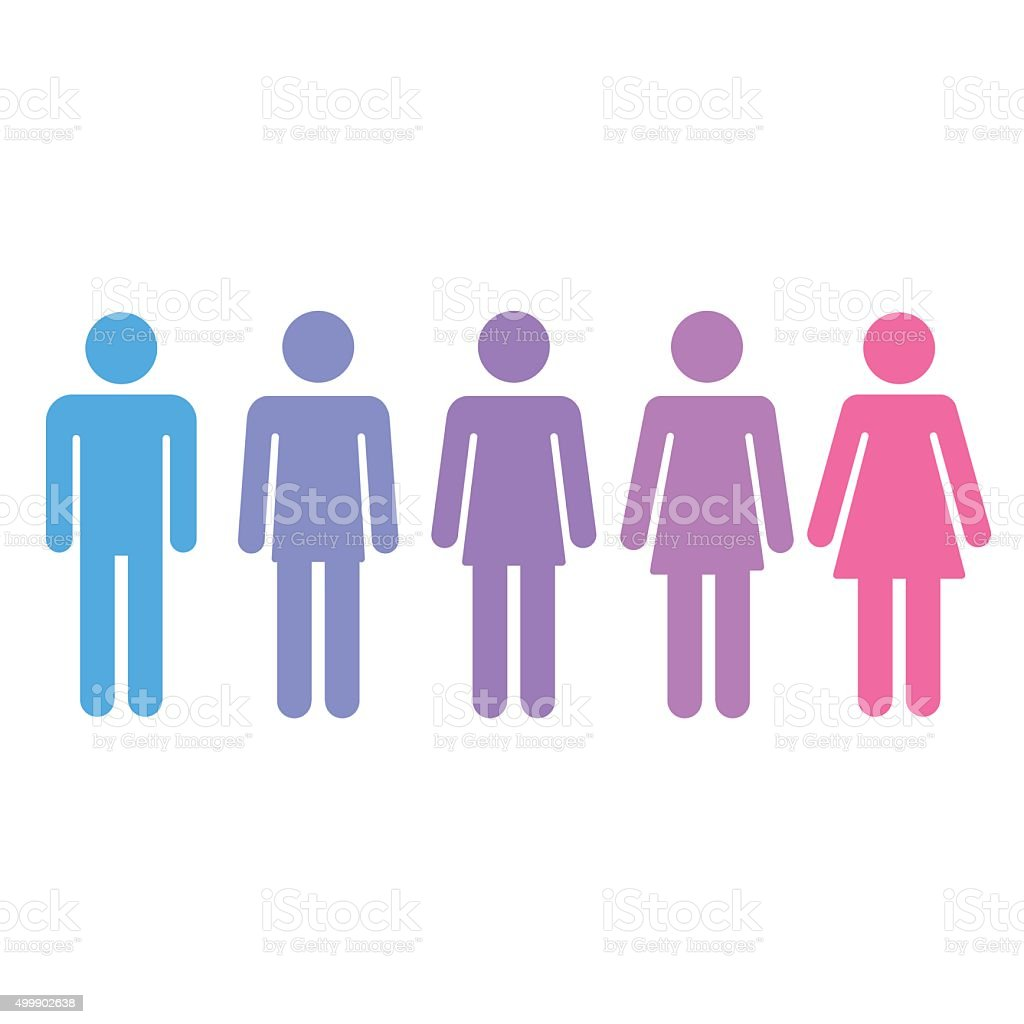 Gender transition concept vector art illustration