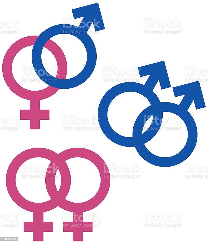 Gender, Union symbols (vector) Stock Illustration royalty-free stock vector art